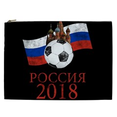 Russia Football World Cup Cosmetic Bag (xxl)  by Valentinaart