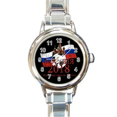 Russia Football World Cup Round Italian Charm Watch by Valentinaart