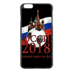 Russia Football World Cup Apple Iphone 6 Plus/6s Plus Black Enamel Case
