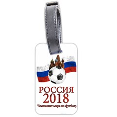 Russia Football World Cup Luggage Tags (one Side)  by Valentinaart
