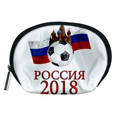 Russia Football World Cup Accessory Pouches (medium)  by Valentinaart