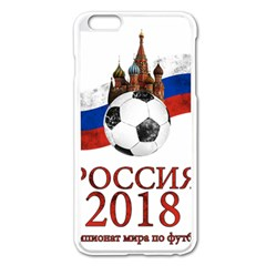 Russia Football World Cup Apple Iphone 6 Plus/6s Plus Enamel White Case by Valentinaart