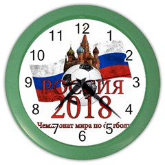 Russia Football World Cup Color Wall Clocks by Valentinaart