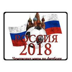 Russia Football World Cup Fleece Blanket (small) by Valentinaart