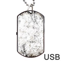 Grunge Pattern Dog Tag Usb Flash (two Sides) by Valentinaart