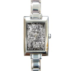 Grunge Pattern Rectangle Italian Charm Watch