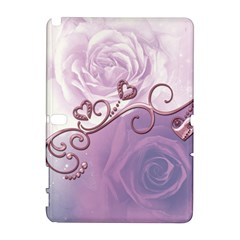 Wonderful Soft Violet Roses With Hearts Galaxy Note 1 by FantasyWorld7