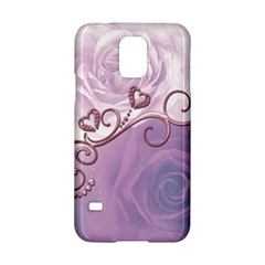Wonderful Soft Violet Roses With Hearts Samsung Galaxy S5 Hardshell Case  by FantasyWorld7