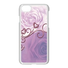 Wonderful Soft Violet Roses With Hearts Apple Iphone 8 Seamless Case (white) by FantasyWorld7