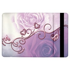Wonderful Soft Violet Roses With Hearts Ipad Air Flip by FantasyWorld7