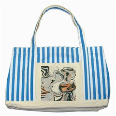 Liquid Gold And Navy Marble Striped Blue Tote Bag