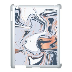 Liquid Gold And Navy Marble Apple Ipad 3/4 Case (white)