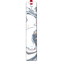 Liquid Gold And Navy Marble Large Book Marks by goljakoff