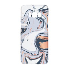 Liquid Gold And Navy Marble Samsung Galaxy S8 Hardshell Case