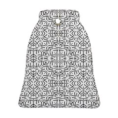 Black And White Ethnic Geometric Pattern Bell Ornament (two Sides) by dflcprints