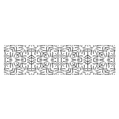 Black And White Ethnic Geometric Pattern Satin Scarf (oblong) by dflcprints