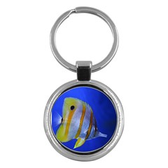Butterfly Fish 1 Key Chains (round)  by trendistuff