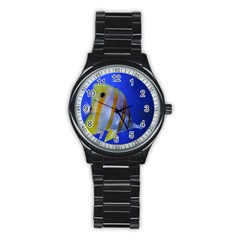 Butterfly Fish 1 Stainless Steel Round Watch by trendistuff