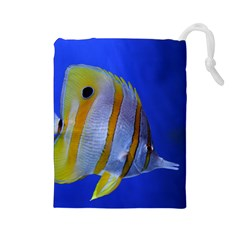 Butterfly Fish 1 Drawstring Pouches (large)  by trendistuff