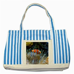 Clownfish 2 Striped Blue Tote Bag by trendistuff