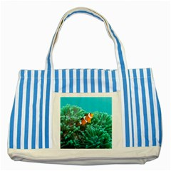 Clownfish 3 Striped Blue Tote Bag by trendistuff