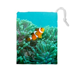 Clownfish 3 Drawstring Pouches (large)  by trendistuff