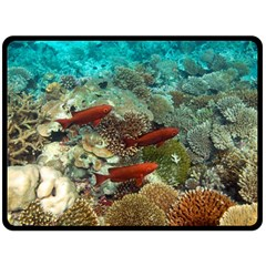 Coral Garden 1 Double Sided Fleece Blanket (large)  by trendistuff