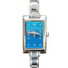 Dolphin 3 Rectangle Italian Charm Watch by trendistuff
