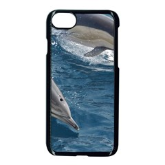 Dolphin 4 Apple Iphone 8 Seamless Case (black) by trendistuff