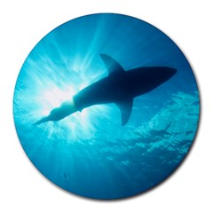 Great White Shark 6 Round Mousepads by trendistuff