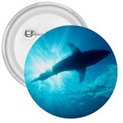 Great White Shark 6 3  Buttons