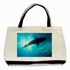 Great White Shark 6 Basic Tote Bag (two Sides)