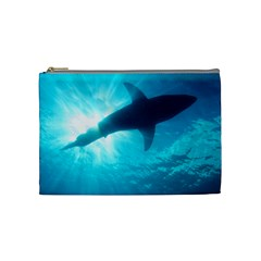Great White Shark 6 Cosmetic Bag (medium)  by trendistuff