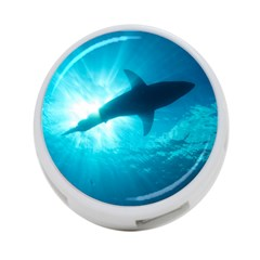 Great White Shark 6 4 Port Usb Hub (two Sides)  by trendistuff