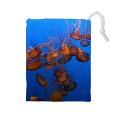 Jellyfish Aquarium Drawstring Pouches (large)  by trendistuff
