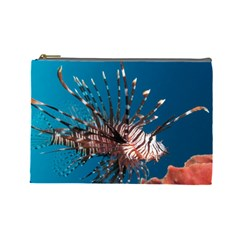 Lionfish 1 Cosmetic Bag (large)  by trendistuff