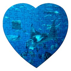 Manta Ray 2 Jigsaw Puzzle (heart) by trendistuff