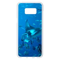 Manta Ray 2 Samsung Galaxy S8 Plus White Seamless Case by trendistuff