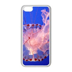 Purple Jellyfish Apple Iphone 5c Seamless Case (white) by trendistuff