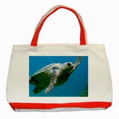 Sea Turtle 2 Classic Tote Bag (red) by trendistuff