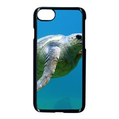 Sea Turtle 2 Apple Iphone 7 Seamless Case (black) by trendistuff