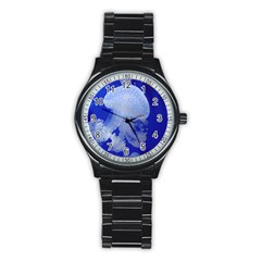 Spotted Jellyfish Stainless Steel Round Watch by trendistuff