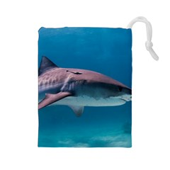 Tiger Shark 1 Drawstring Pouches (large)  by trendistuff