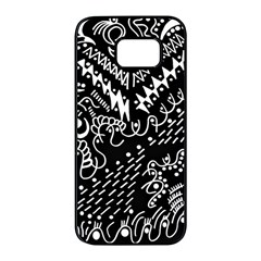 Chicken Hawk Invert Samsung Galaxy S7 Edge Black Seamless Case by MRTACPANS