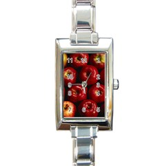 Apples 2 Rectangle Italian Charm Watch by trendistuff