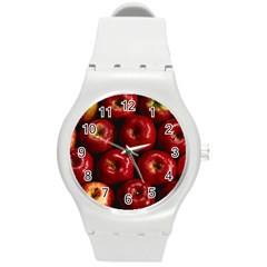 Apples 2 Round Plastic Sport Watch (m) by trendistuff