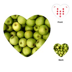 Apples 3 Playing Cards (heart)  by trendistuff