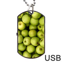 Apples 3 Dog Tag Usb Flash (two Sides) by trendistuff