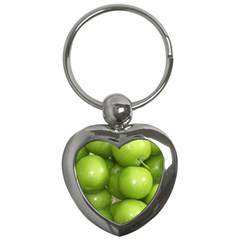 Apples 4 Key Chains (heart)  by trendistuff