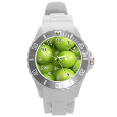 Apples 4 Round Plastic Sport Watch (l) by trendistuff